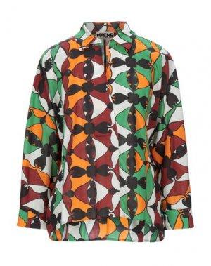 Блузка HACHE. Цвет: зеленый