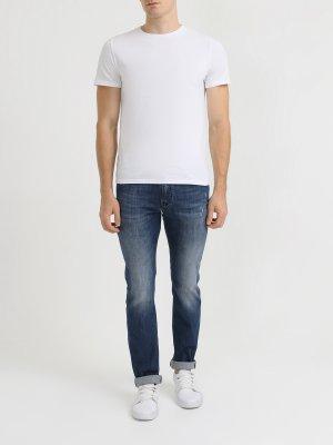 Зауженные джинсы Korpo. Цвет: siniy