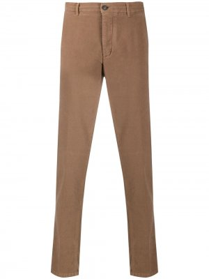 Строгие брюки прямого кроя Altea. Цвет: коричневый