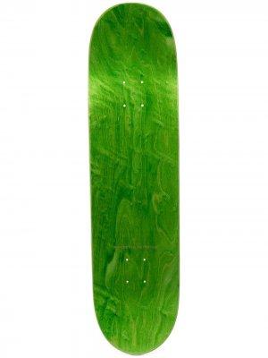 Скейтборд с логотипом PACCBET. Цвет: зеленый