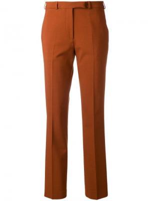 Классические брюки чинос кроя слим Etro. Цвет: коричневый