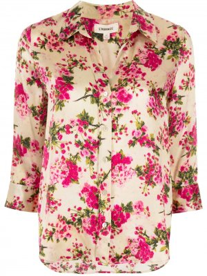 LAgence рубашка с цветочным принтом L'Agence. Цвет: золотистый
