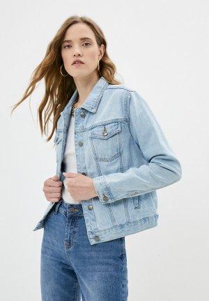 Куртка джинсовая Velocity. Цвет: голубой