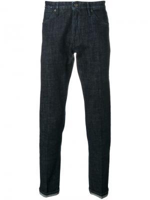 Классические брюки из денима Pt05. Цвет: синий