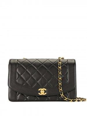 Сумка на плечо Diana 1992-го года Chanel Pre-Owned. Цвет: черный