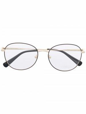 Очки в круглой оправе Longchamp. Цвет: черный