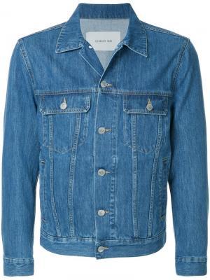 Классическая джинсовая куртка Cerruti 1881. Цвет: синий