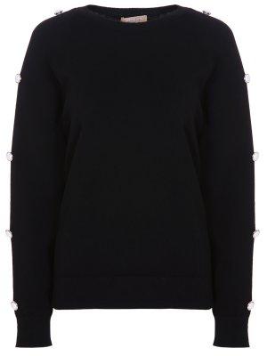 Пуловер кашемировый MICHAEL KORS. Цвет: черный
