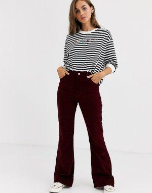 Красные расклешенные вельветовые джинсы Levis-Красный Levi's