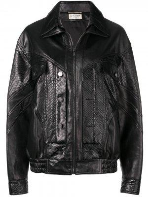 Zipped biker jacket Saint Laurent. Цвет: черный