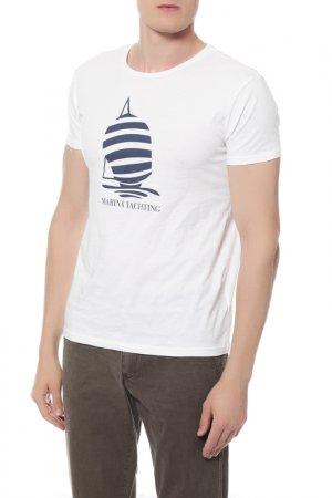 Футболка Marina Yachting. Цвет: белый
