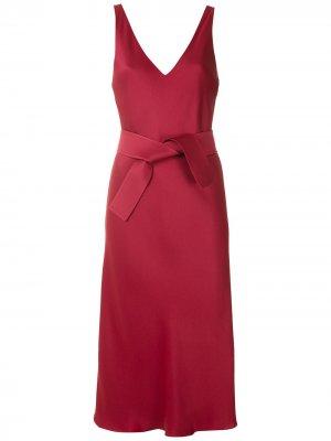 Платье миди с завязками на талии Gloria Coelho. Цвет: красный