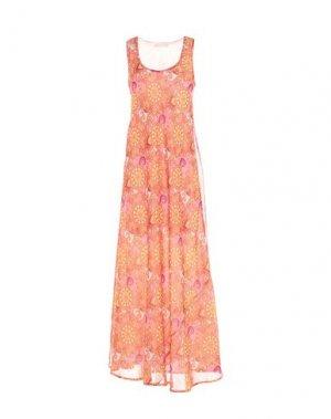 Длинное платье FEMME by MICHELE ROSSI. Цвет: оранжевый