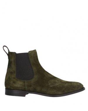 Полусапоги и высокие ботинки CASTORI. Цвет: зеленый-милитари