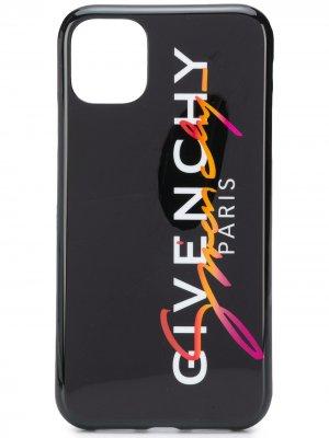 Logo signature print iPhone 11 case Givenchy. Цвет: черный