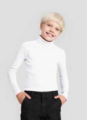 Трикотажный свитер для мальчиков O`Stin. Цвет: белый