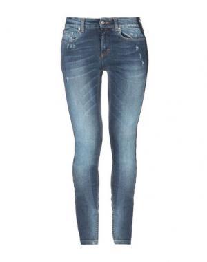 Джинсовые брюки LORELLA SIGNORINO. Цвет: синий