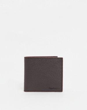 Темно-коричневый бумажник из зернистой кожи -Коричневый цвет Barbour