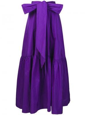 Юбка с большим бантом P.A.R.O.S.H.. Цвет: фиолетовый