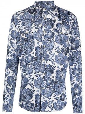 Рубашка с принтом Hydrogen. Цвет: синий