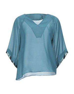 Блузка F**K PROJECT. Цвет: цвет морской волны
