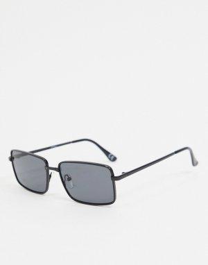 Квадратные солнцезащитные очки в черной оправе -Черный цвет Jeepers Peepers