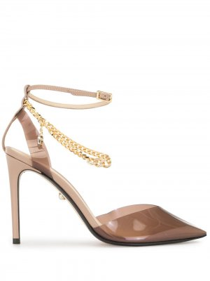 Туфли с цепочками Alevì. Цвет: коричневый
