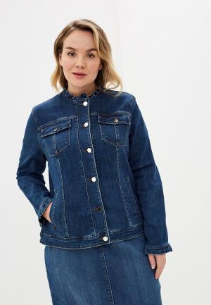 Куртка джинсовая Elena Miro. Цвет: синий