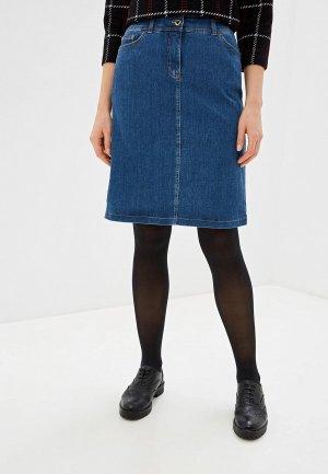 Юбка джинсовая Gerry Weber. Цвет: синий