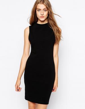 Классическое платье-майка Silla Selected. Цвет: черный