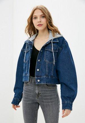 Куртка джинсовая Goldrai. Цвет: синий