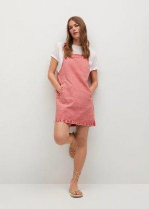 Джинсовый сарафан с карманами - Impact-h Mango. Цвет: розовый