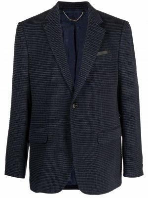 Однобортный пиджак строгого кроя Billionaire. Цвет: синий
