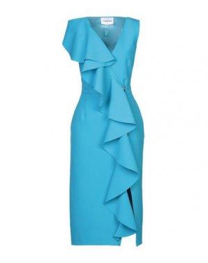 Платье длиной 3/4 ALEXANDR ROGOV. Цвет: лазурный