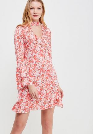 Платье Massimiliano Bini. Цвет: коралловый