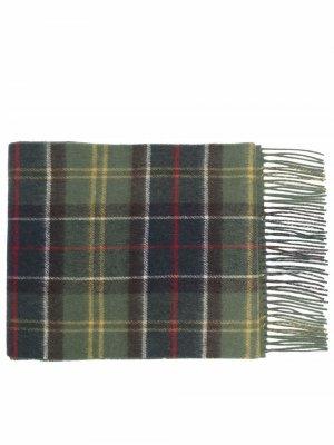 Galston tartan wool scarf Barbour. Цвет: зеленый