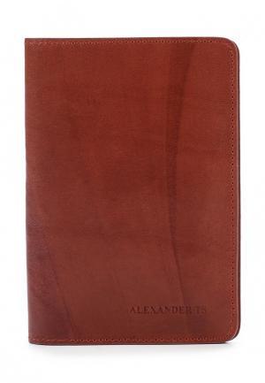 Обложка для паспорта Alexander Tsiselsky. Цвет: коричневый