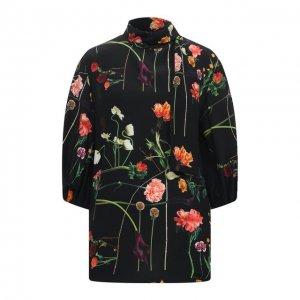 Шелковая блузка Valentino. Цвет: чёрный
