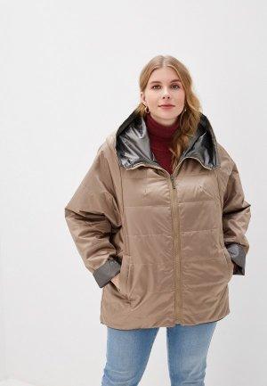 Куртка утепленная Лита. Цвет: разноцветный