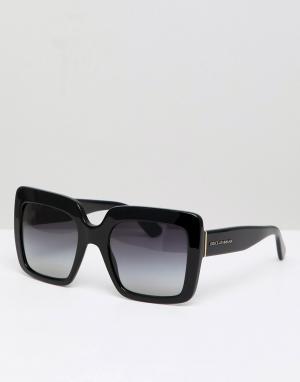 Квадратные солнцезащитные очки -Черный Dolce & Gabbana
