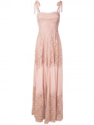 Кружевное платье Regina Martha Medeiros. Цвет: розовый