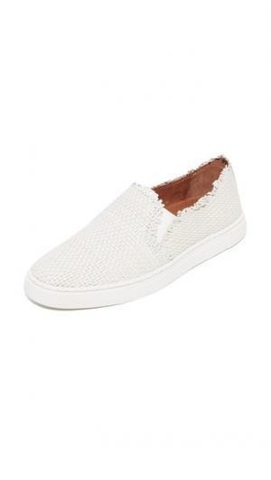 Плетеные кроссовки без шнурков Ivy с бахромой Frye. Цвет: белый