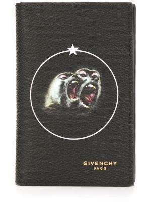 Визитница с принтом Baboon Givenchy. Цвет: чёрный