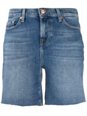 High rise denim shorts 7 For All Mankind. Цвет: синий