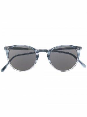 Солнцезащитные очки OMalley в круглой оправе Oliver Peoples. Цвет: серый