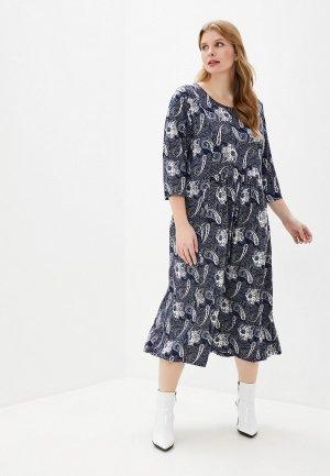 Платье Milanika. Цвет: синий