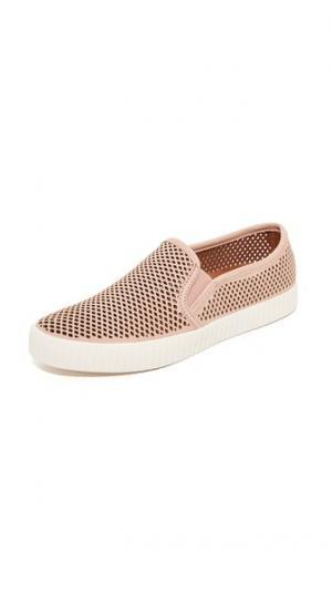 Перфорированные кроссовки Camille без шнурков Frye. Цвет: розовый
