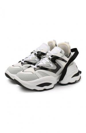 Кожаные кроссовки Dsquared2. Цвет: белый