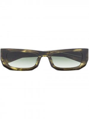 Солнцезащитные очки Bricktop FLATLIST. Цвет: зеленый