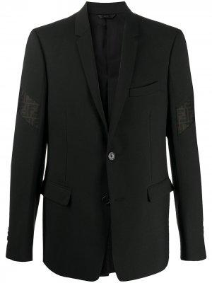 Костюмный пиджак с логотипом Fendi. Цвет: черный